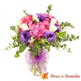 Florero de Hortencias