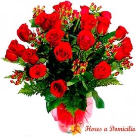 Florero de 24 Rosas Rojas
