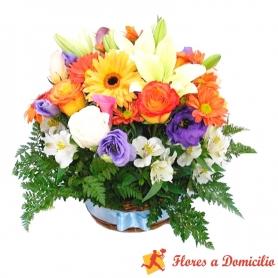 Canastillo Mediano de Flores Primaveral
