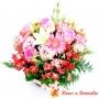 Canastillo de Flores Pink