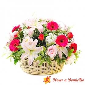 Canastillo Grande de Flores Primaverales