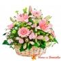 Cesta de Flores Grande con flores Liliums y Gerberas color Rosadas