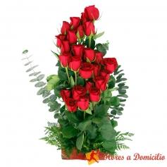 Cesta Rosas Ascendente 24 rosas