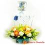 Flores para Nacimiento en canastillo Con Ropita para Niño