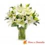 Florero Condolencias Lilums Blanco