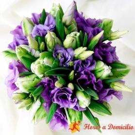 Ramo de Flores Con 20 varas de Lisianthus Morados más flores mix