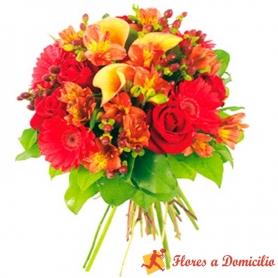 Ramo de Flores de Colores Primaverales Con Mini Calas de Colores y Flores MIx
