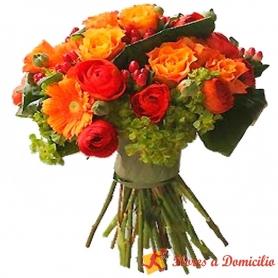 Ramo de Flores Leonidas Flores Rojo Pasión