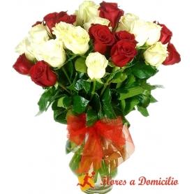 Florero 50 Rosas Premium