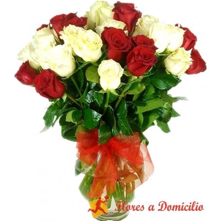 Florero 30 Rosas Premium