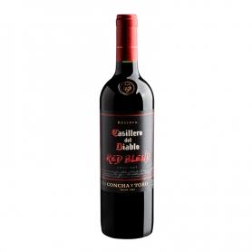 Vino Casillero del Diablo reserva red blend, botella 750 cc.