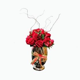 Florero de Centro Navideño 16 Rosas