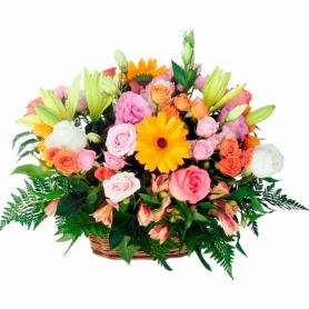 Canastillo de Flores Primaveral Gigante