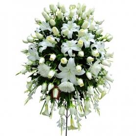Flores Condolencias Grande Rosas Blancas
