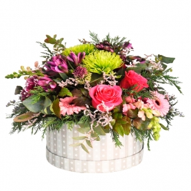 Cesta de Flores Rústicas Flores Mix