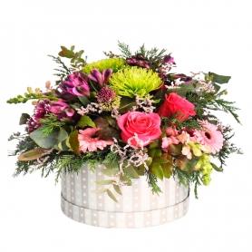 Cesta Mediana de Flores Rústicas Flores Mix