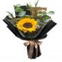 Ramo de 1 Girasol Más flores mix y Eucaliptos