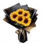 Ramo de 5 Girasoles Más Flores mix