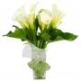 Florero con 10 Calas Blancas y flores mix