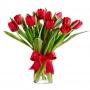 Florero con 10 Tulipanes Rojos