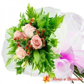 Ramo 4 Rosas Rosadas