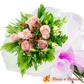Ramo 6 Rosas Rosadas