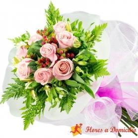 Ramo 8 Rosas Rosadas