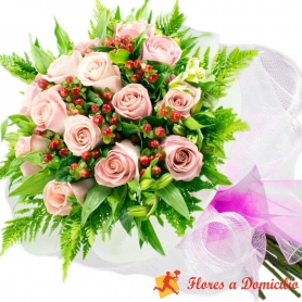 Ramo 15 Rosas Rosadas
