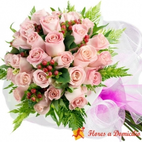 Ramo 24 Rosas Rosadas