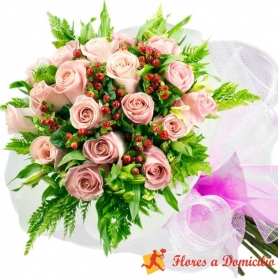 Ramo 18 Rosas Rosadas