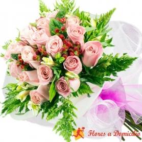 Ramo 20 Rosas Rosadas