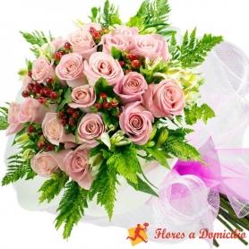 Ramo 22 Rosas Rosadas