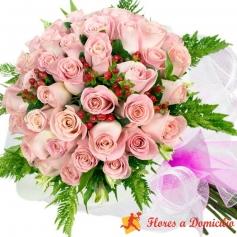 Ramo 60 Rosas Rosadas