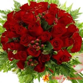 Ramo de 80 Rosas Rojas
