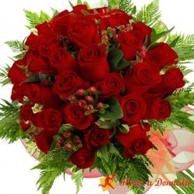 Ramo de 28 Rosas Rojas