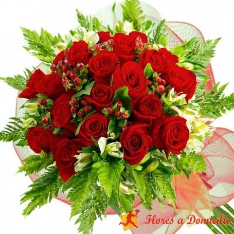Ramo de 22 Rosas Rojas