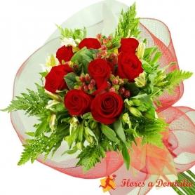 Ramo 8 Rosas Rojas