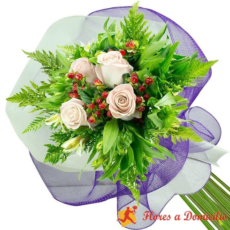 Ramo 4 Rosas Blancas