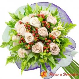 Ramo 14 Rosas Blancas
