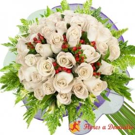 Ramo 26 Rosas Blancas