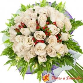 Ramo 30 Rosas Blancas