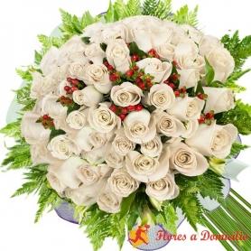 Ramo 36 Rosas Blancas