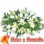 Ovalo de Condolencias Rosas y Liliums