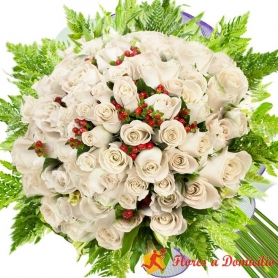 Ramo 80 Rosas Blancas