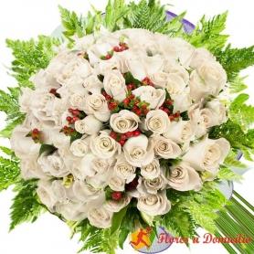 Ramo 90 Rosas Blancas