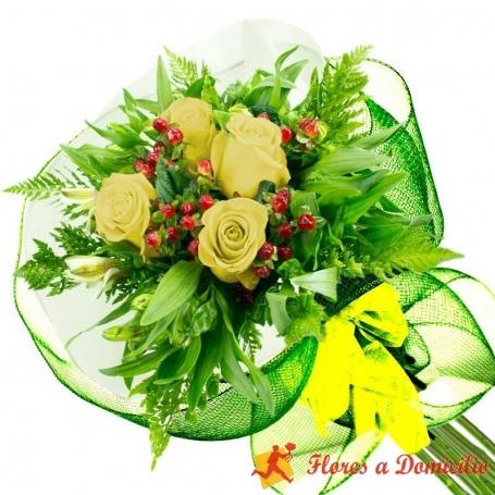 Ramo 4 Rosas Amarillas