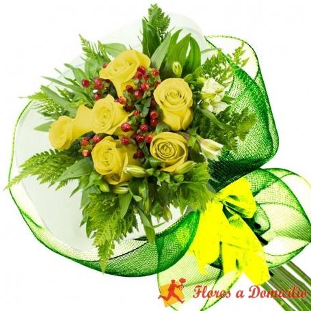 Ramo 6 Rosas Amarillas