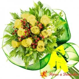 Ramo 10 Rosas Amarillas