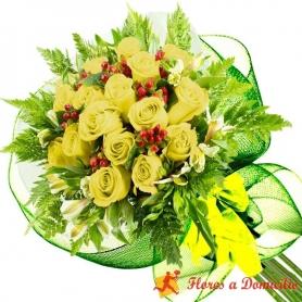 Ramo 16 Rosas Amarillas