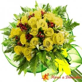 Ramo 22 Rosas Amarillas